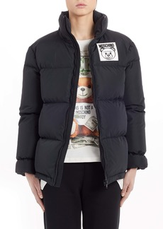 Moschino Bear Logo Patch Puffer Jacket