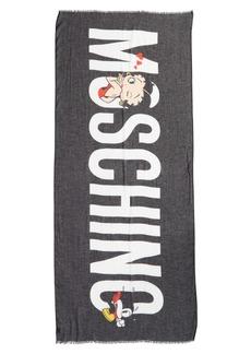 Moschino Betty Boop Logo Scarf