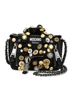 Moschino Biker Button Shoulder Bag