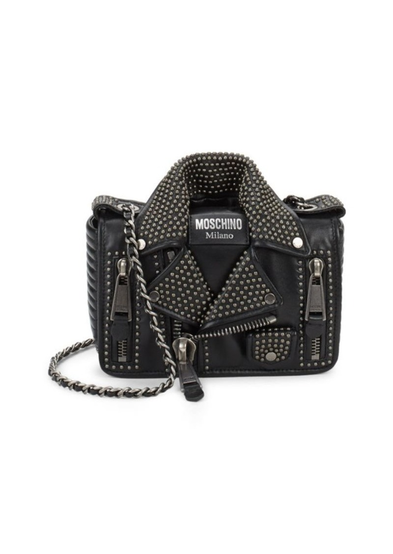 48b8f7f2f9 SALE! Moschino Moschino Biker Jacket Leather Shoulder Bag