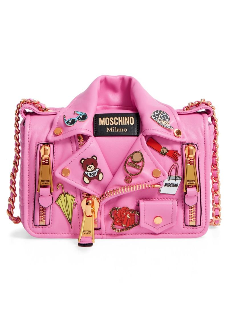 35f14404ea Moschino Moschino Biker Jacket Shoulder Bag | Handbags