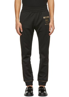 Moschino Black & Gold Double Question Mark Lounge Pants