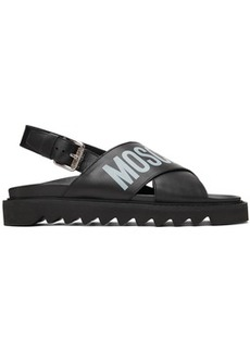 Moschino Black Logo Sandals