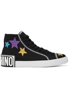 Moschino Black 'Moschino Stars' High Sneakers