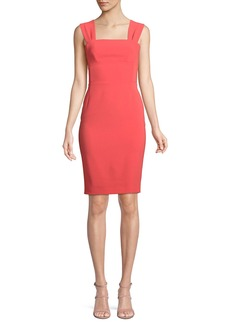 Moschino Bow-Back Sleeveless Sheath Dress