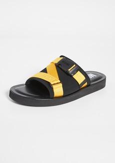 Moschino Buckle Slides