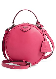 Moschino Calfskin Leather Crossbody Circle Bag