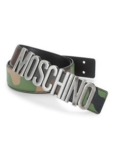 Moschino Camouflage Leather Belt