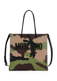 Moschino Camouflage-Print Tote Bag