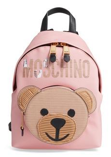 Moschino Cardboard Bear Leather Backpack