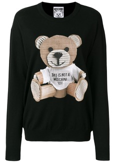 Moschino cardboard teddy jumper - Black