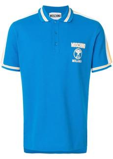 Moschino chest logo polo shirt - Blue