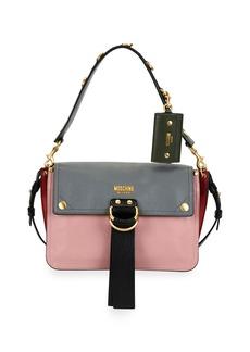 Moschino Colorblock Flap Shoulder Bag
