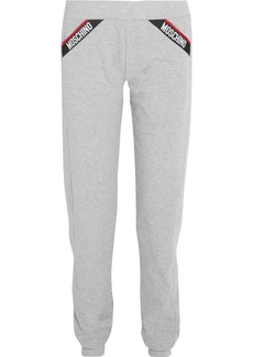Moschino Cotton-blend fleece track pants