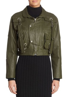 Moschino Cotton Cropped Military Jacket