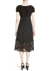 Moschino Crochet & Lace Silk Babydoll Dress