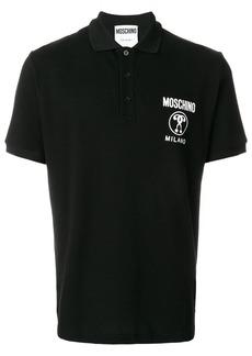 Moschino double question mark polo - Black