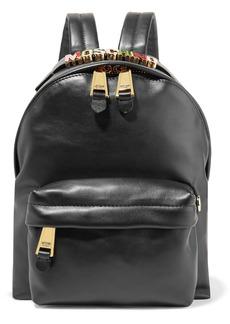 Moschino Embellished leather backpack