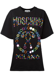 Moschino embroidered logo T-shirt - Black