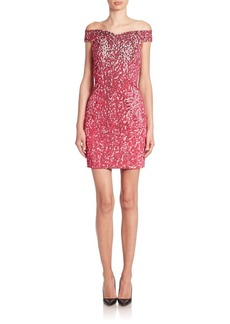 Moschino Faux Sequin Off-The-Shoulder Dress