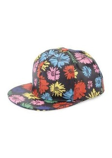 Moschino Floral Leather Baseball Cap