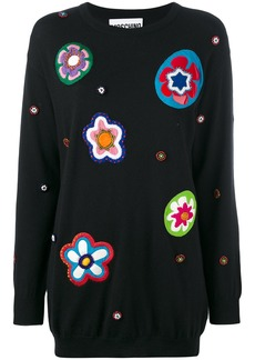 Moschino floral patch knit dress - Black