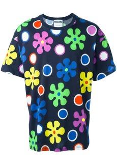 Moschino flower power T-shirt - Black
