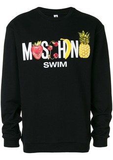 Moschino fruit logo sweatshirt - Black