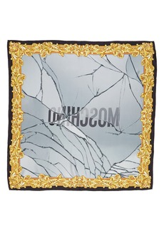 Moschino Golden Edge Silk Scarf