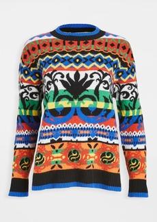 Moschino Graphic Striped Sweater