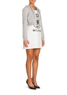 Moschino Hoodie Logo Dress