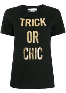 Moschino printed slogan T-shirt