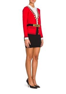 Moschino Knit Belted Cardigan Mini Dress