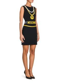 Moschino Knit Pearls Logo Dress