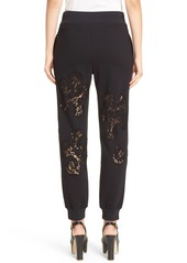 Moschino Lace Inset Fleece Trousers