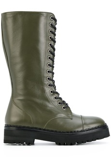 Moschino lace-up boots - Green