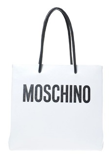 Moschino Large Logo Transformers Print Leather Tote