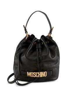 Moschino Leather Bucket Bag