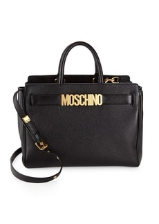 Moschino Leather Logo Satchel