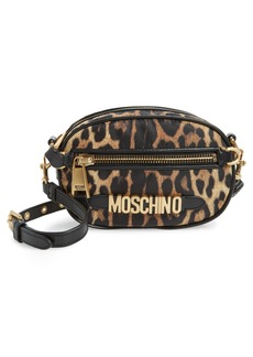 Moschino Leopard Print Shoulder Bag