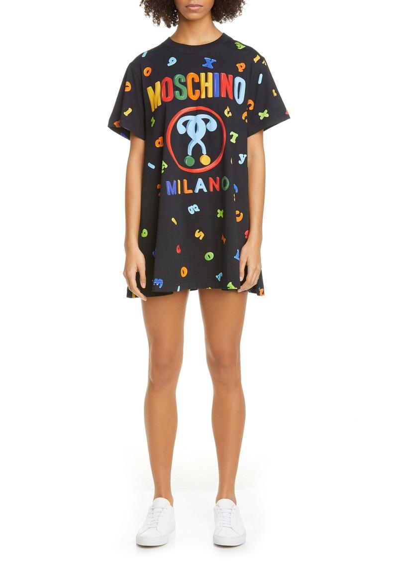 Moschino Letter Print T-Shirt Minidress