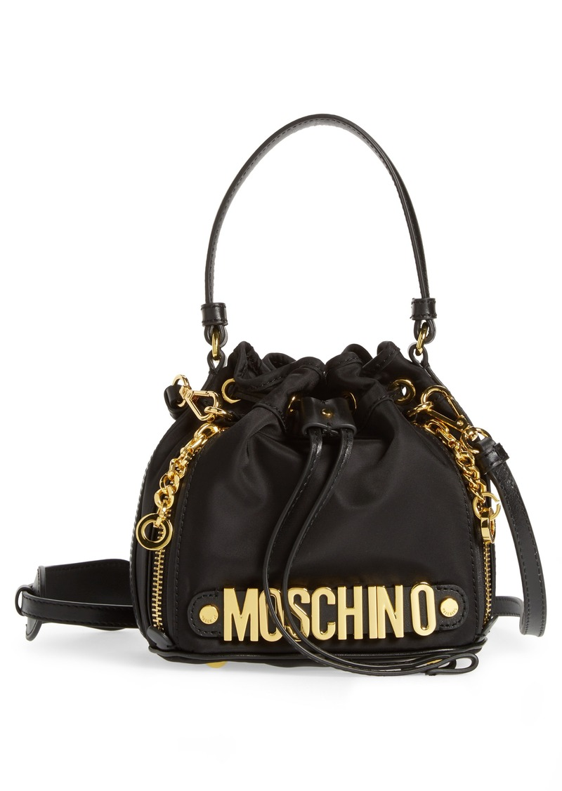 e664bfa5e9 Moschino Moschino Letters Small Nylon Bucket Bag | Handbags