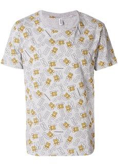 Moschino logo bear T-shirt - Grey