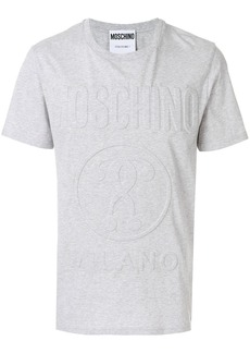 Moschino logo embossed T-shirt