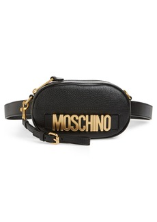 Moschino Logo Leather Belt Bag