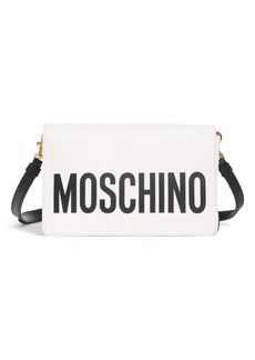 Moschino Logo Leather Crossbody Bag