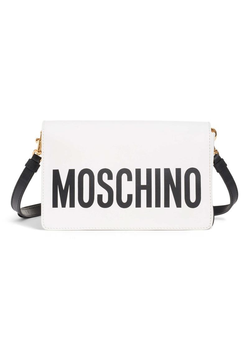 Moschino Logo Leather Crossbody Bag