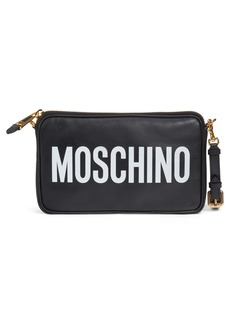 Moschino Logo Leather Pouch