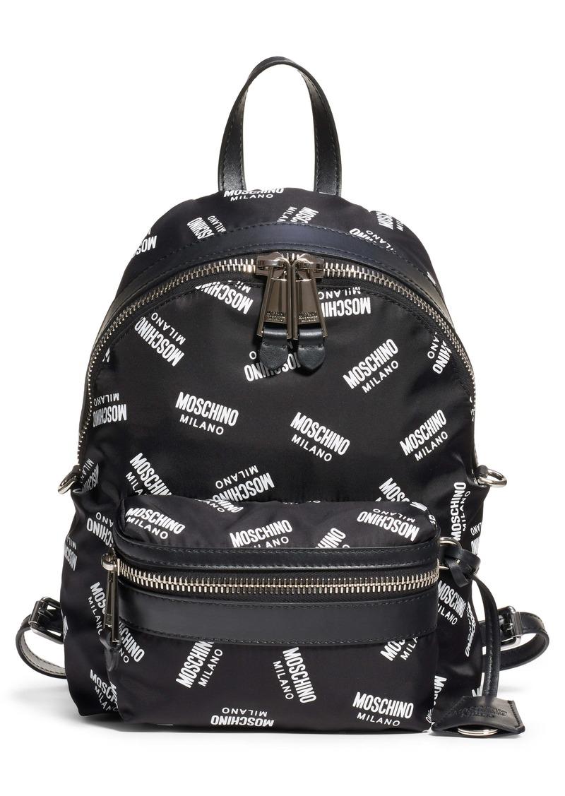 Moschino Logo Nylon Backpack