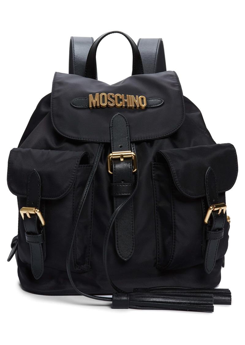 Moschino Logo Nylon Drawstring Backpack